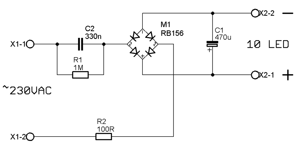 led light bulb circuit