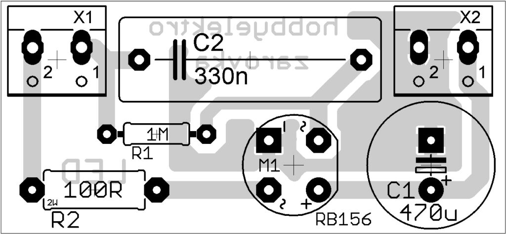 pcb placement led light