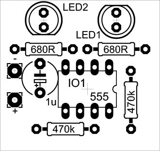 NE555 LED flasher